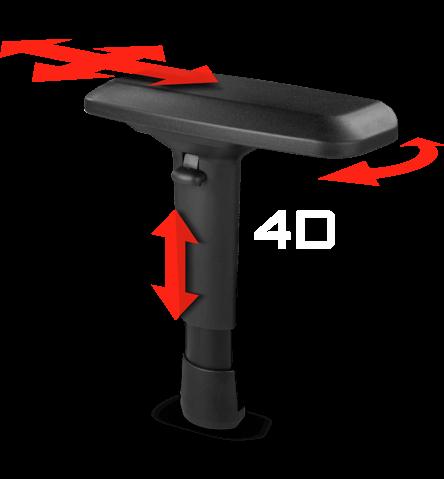 Adjustable 4D armrest